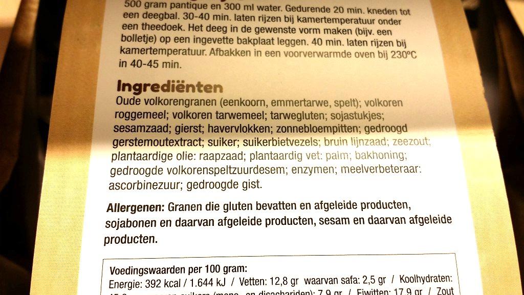 In2bake met zonder e-nummers ingredienten